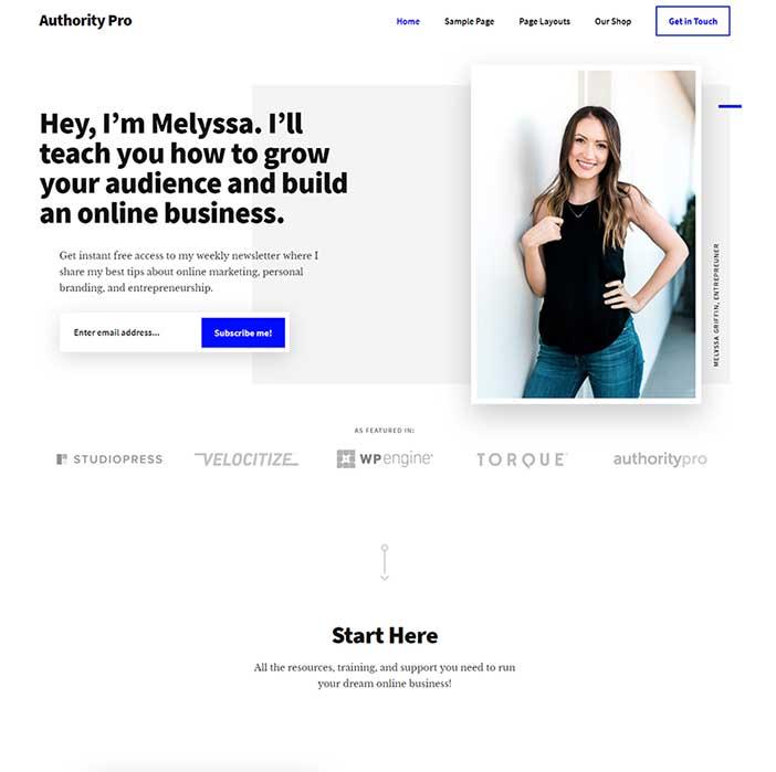 Websites built using StudioPress themes